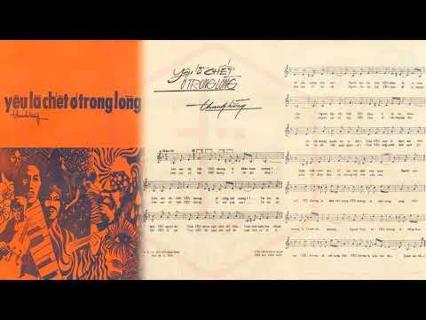 🎵 Yêu Là Chết Ở Trong Lòng (Thanh Hằng) Julie Quang Pre 1975 | Tờ Nhạc Xưa