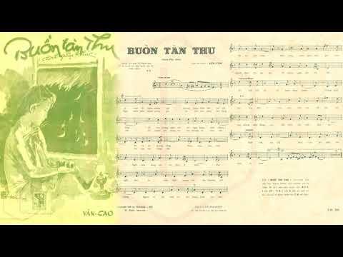 🎵 Buồn Tàn Thu (Văn Cao) Thái Thanh Pre 1975 | Tờ Nhạc Xưa