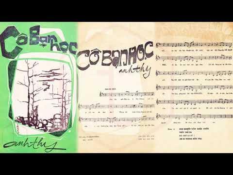 🎵 Cô Bạn Học (Anh Thy) Thanh Tâm Pre 1975 | Tờ Nhạc Xưa