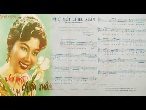 🎵 Nhớ Một Chiều Xuân (Nguyễn Văn Đông) Hà Thanh Pre 1975 | Tờ Nhạc Xưa