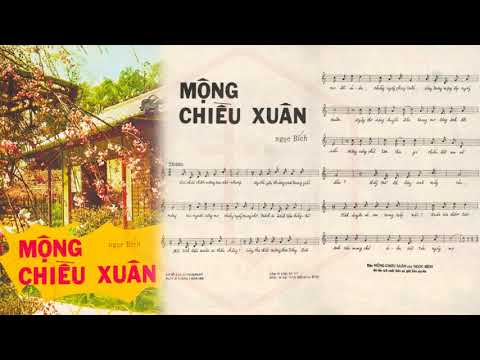 🎵 Mộng Chiều Xuân (Ngọc Bích) Thanh Lan Pre 1975 | Tờ Nhạc Xưa