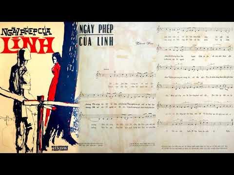 🎵 Ngày Phép Của Lính (Thanh Sơn) Phương Tâm Pre 1975 | Tờ Nhạc Xưa
