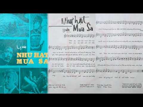 🎵 Như Hạt Mưa Sa (Y Vân) Hoàng Oanh Pre 1975 | Tờ Nhạc Xưa