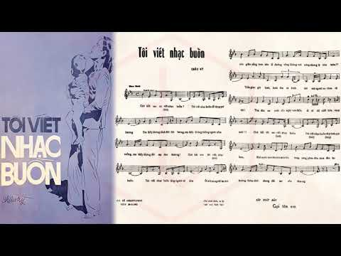 🎵 Tôi Viết Nhạc Buồn (Châu Kỳ) Elvis Phương Pre 1975 | Tờ Nhạc Xưa