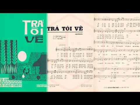 🎵 Trả Tôi Về (Mặc Thế Nhân) Thanh Tuyền Pre 1975 | Tờ Nhạc Xưa