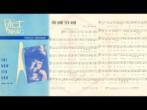 🎵 Tôi Nhớ Tên Anh (Hoàng Thi Thơ) Thúy Nga Pre 1975 | Tờ Nhạc Xưa
