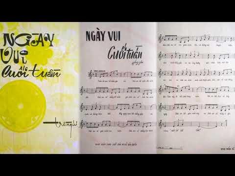 🎵 Ngày Vui Cuối Tuần (Hồng Vân) Chế Linh Pre 1975 | Tờ Nhạc Xưa