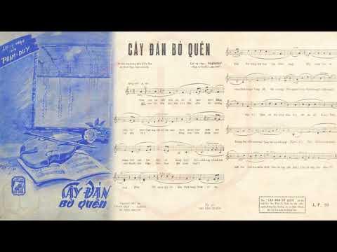 🎵 Cây Đàn Bỏ Quên (Phạm Duy) Thảo Ly Pre 1975 | Tờ Nhạc Xưa