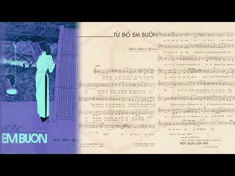 🎵 Từ Đó Em Buồn (Tân Cổ, Trần Thiện Thanh, Viễn Châu) Duy Khánh, Ngọc Giàu Pre 1975 | Tờ Nhạc Xưa