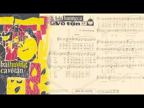 🎵 Bài Hương Ca Vô Tận (Trầm Tử Thiêng) Duy Khánh Pre 1975 | Tờ Nhạc Xưa