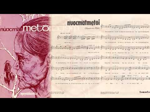 🎵 Nước Mắt Mẹ Tôi (Nguyễn Hữu Thiết) Hà Thanh Pre 1975 | Tờ Nhạc Xưa
