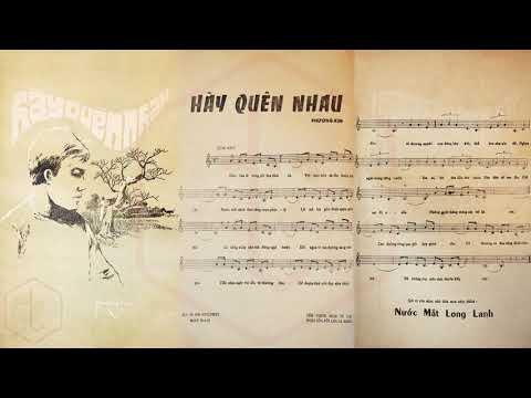 🎵 Hãy Quên Nhau (Tân Cổ, Phương Kim) Tấn Tài, Phượng Liên Pre 1975 | Tờ Nhạc Xưa