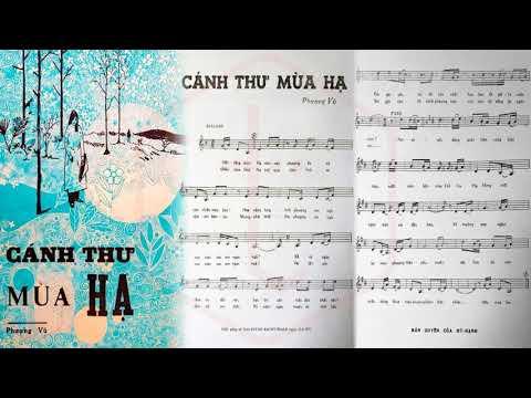 🎵 Cánh Thư Mùa Hạ (Phượng Vũ) Duy Khánh Pre 1975 | Tờ Nhạc Xưa
