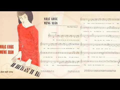 🎵 Nhạc Khúc Mừng Xuân (Phạm Mạnh Cương) Phương Mai Pre 1975 | Tờ Nhạc Xưa
