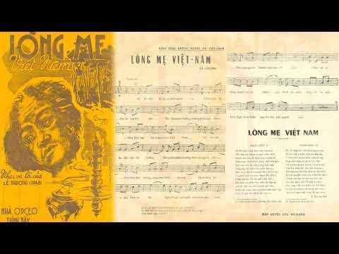 🎵 Lòng Mẹ Việt Nam (Lê Thương) Duy Khánh Pre 1975 | Tờ Nhạc Xưa