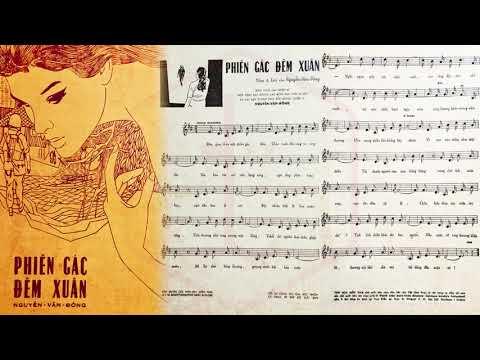🎵 Phiên Gác Đêm Xuân (Nguyễn Văn Đông) Thanh Thúy Pre 1975 | Tờ Nhạc Xưa