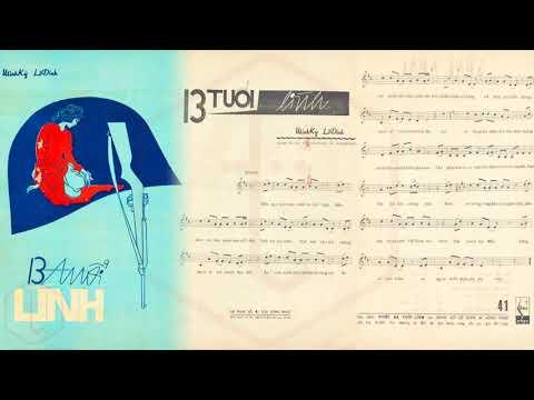 🎵 Mười Ba Tuổi Lính (Minh Kỳ, Lê Dinh) Thanh Vũ Pre 1975 | Tờ Nhạc Xưa