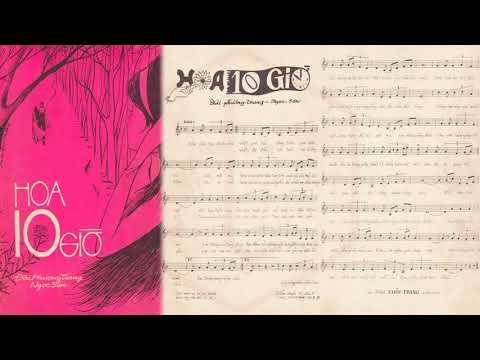 🎵 Hoa Mười Giờ (Đài Phương Trang, Ngọc Sơn) Hương Lan Pre 1975 | Tờ Nhạc Xưa