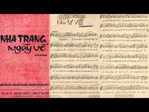 🎵 Nha Trang Ngày Về (Phạm Duy) Ngọc Long Pre 1975 | Tờ Nhạc Xưa