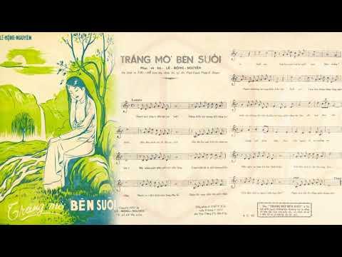 🎵 Trăng Mờ Bên Suối (Lê Mộng Nguyên) Thanh Thúy Pre 1975 | Tờ Nhạc Xưa