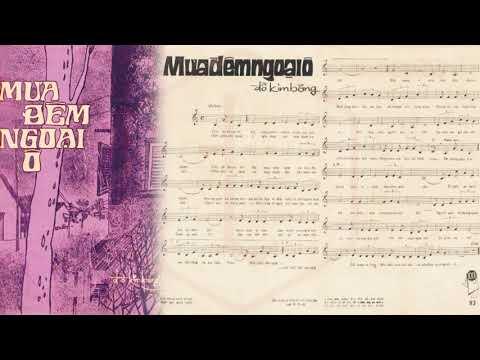 🎵 Mưa Đêm Ngoại Ô (Đỗ Kim Bảng) Hương Lan Pre 1975 | Tờ Nhạc Xưa