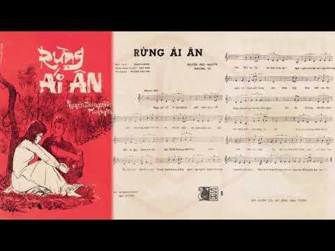 🎵 Rừng Ái Ân (Phượng Vũ) Thanh Phong Pre 1975 | Tờ Nhạc Xưa
