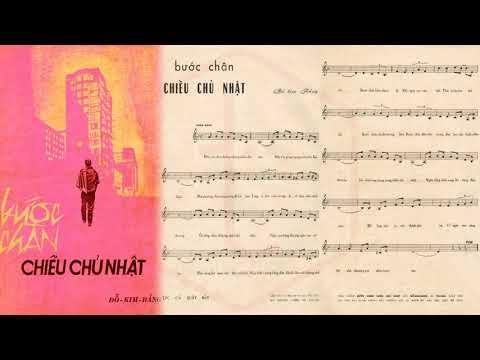 🎵 Bước Chân Chiều Chủ Nhật (Đỗ Kim Bảng) Mỹ Thể Pre 1975 | Tờ Nhạc Xưa
