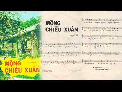🎵 Mộng Chiều Xuân (Ngọc Bích) Lệ Thu Pre 1975 | Tờ Nhạc Xưa