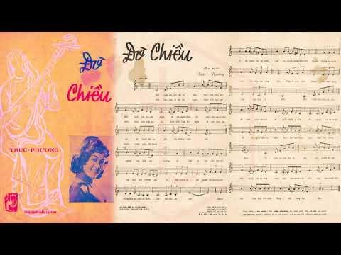 🎵 Đò Chiều (Tân Cổ, Trúc Phương) Mỹ Châu Pre 1975 | Tờ Nhạc Xưa