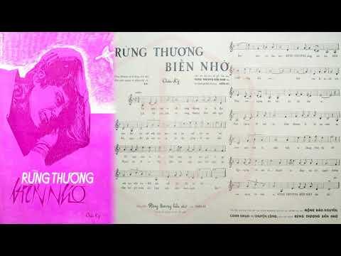 🎵 Rừng Thương Biển Nhớ (Châu Kỳ) Ngọc Cẩm, Nguyễn Hữu Thiết Pre 1975 | Tờ Nhạc Xưa
