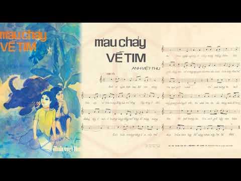 🎵 Máu Chảy Về Tim (Anh Việt Thu) Thanh Tuyền Pre 1975 | Tờ Nhạc Xưa