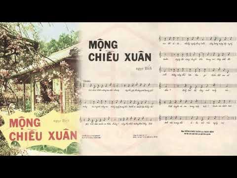 🎵 Mộng Chiều Xuân (Ngọc Bích) Hà Thanh Pre 1975 | Tờ Nhạc Xưa