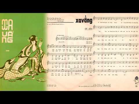 🎵 Xa Vắng (Y Vân) Thanh Thúy Pre 1975 | Tờ Nhạc Xưa