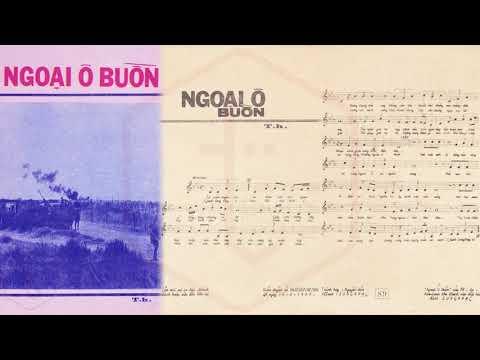 🎵 Ngoại Ô Buồn (Anh Bằng) Kim Loan Pre 1975 | Tờ Nhạc Xưa