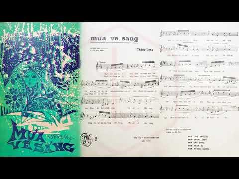 🎵 Mưa Về Sáng (Thăng Long) Hương Lan Pre 1975 | Tờ Nhạc Xưa