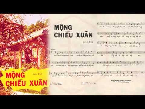 🎵 Mộng Chiều Xuân (Ngọc Bích) Trúc Mai Pre 1975 | Tờ Nhạc Xưa