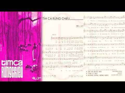 🎵 Tím Cả Rừng Chiều (Thu Hồ) Phương Dung Pre 1975 | Tờ Nhạc Xưa