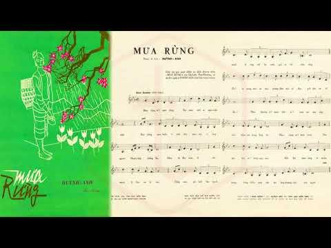 🎵 Mưa Rừng (Huỳnh Anh) Thanh Nga Pre 1975 | Tờ Nhạc Xưa
