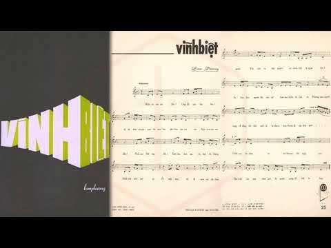 🎵 Vĩnh Biệt (Lam Phương) Thanh Thúy Pre 1975 | Tờ Nhạc Xưa