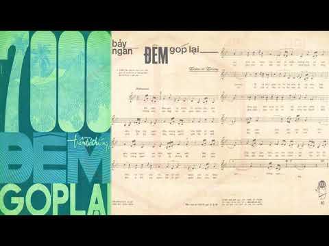 🎵 7000 Đêm Góp Lại (Trầm Tử Thiêng) Dạ Hương Pre 1975 | Tờ Nhạc Xưa