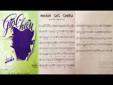 🎵 Nhắn Gió Chiều (Nguyễn Thiện Tơ) Sĩ Phú Pre 1975 | Tờ Nhạc Xưa