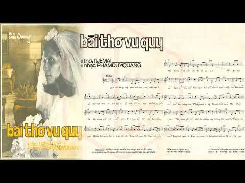 🎵 Bài Thơ Vu Quy (Tuệ Mai, Phạm Duy Quang) Julie Quang Pre 1975 | Tờ Nhạc Xưa