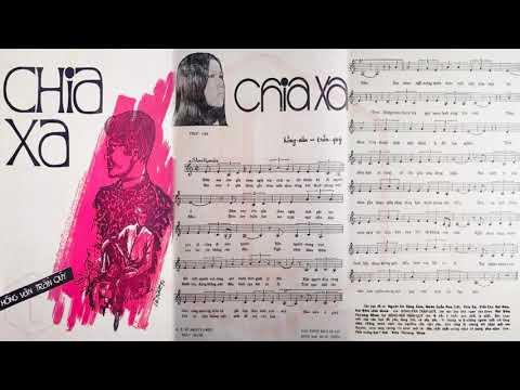 🎵 Chia Xa (Hồng Vân, Trần Quý) Giao Linh Pre 1975 | Tờ Nhạc Xưa