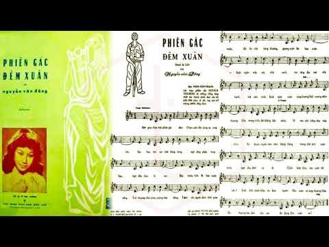 🎵 Phiên Gác Đêm Xuân (Nguyễn Văn Đông) Anh Khoa Pre 1975 | Tờ Nhạc Xưa