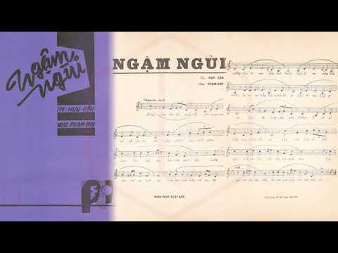 🎵 Ngậm Ngùi (Phạm Duy, Huy Cận) Thái Thanh Pre 1975 | Tờ Nhạc Xưa