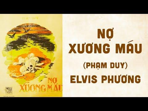 🎵 Nợ Xương Máu (Phạm Duy) Elvis Phương Pre 1975 | Bìa Nhạc Xưa