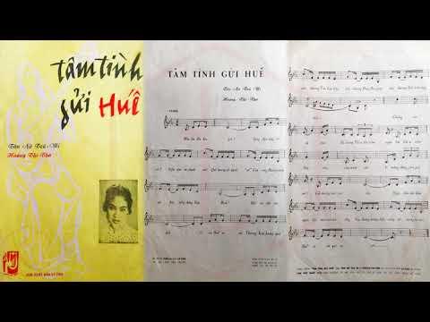 🎵 Tâm Tình Gửi Huế (Hoàng Thi Thơ) Thanh Thúy Pre 1975 | Tờ Nhạc Xưa