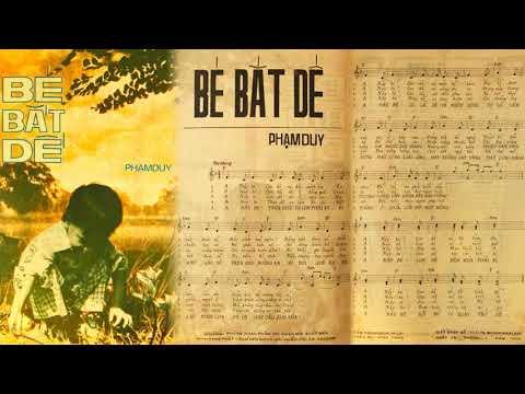 🎵 Bé Bắt Dế (Phạm Duy) Thái Hiền Pre 1975 | Tờ Nhạc Xưa
