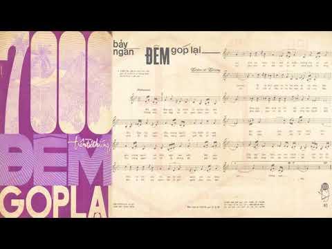🎵 7000 Đêm Góp Lại (Trầm Tử Thiêng) Phương Dung Pre 1975 | Tờ Nhạc Xưa