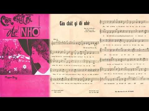 🎵 Còn Chút Gì Để Nhớ (Phạm Duy) Duy Quang Pre 1975 | Tờ Nhạc Xưa